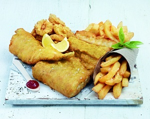 Fish and Calamari with chips combo