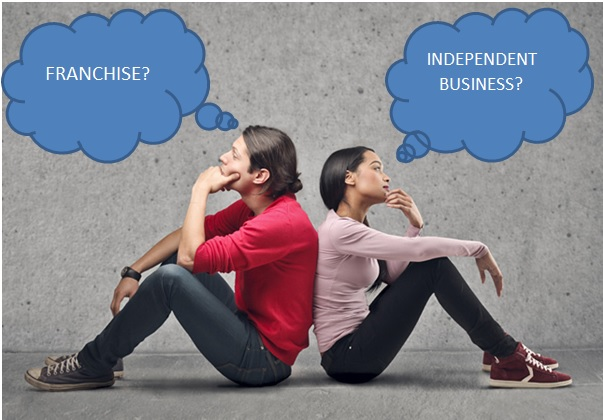 Choosing a Franchise vs Independent business