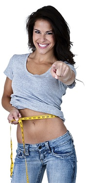 A smiling lady showing slimming results from The Firm