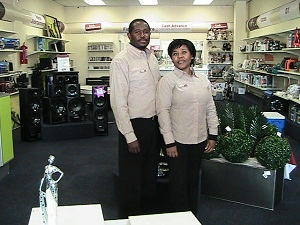 Nathan and Zandile Seotsanya from Village @ Horizon Cash Converters