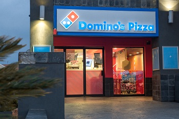 Domino's store outside