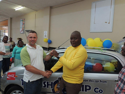 The Fish and Chip Co. Win a Car Competition goes to Student from Mokopane Keys handed over by The Fish & Chip Co., Jan de Beer