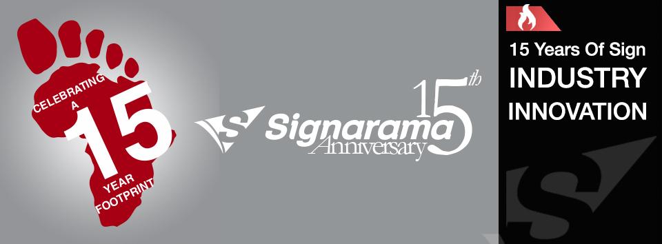 Sign-A-Rama franchises 15 year anniversary