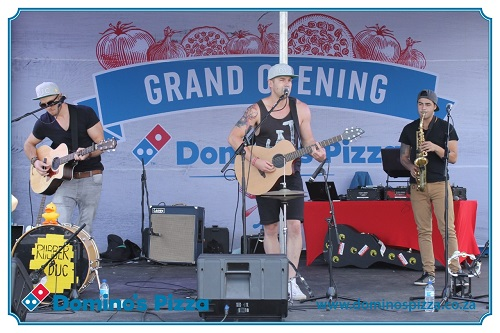 Rubber Duc performing at opening of Domino's Pizza SA in Rivonia