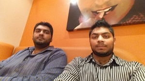 Rashal and younger brother Chand Patel - Maxi's Northmead Mall