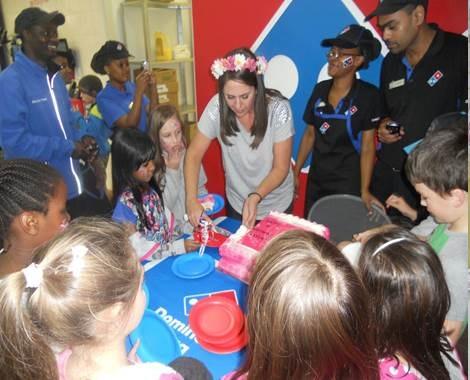 Domino's Pizza and East Coast Radio made Kayla's 8th birthday dream come true