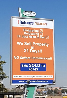 Reliance Auctions Billboard