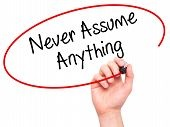 never-assume
